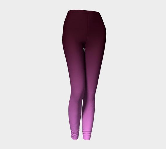 bdd544651c276 Purple Leggings Yoga Leggings Yoga Pants Ombre Leggings