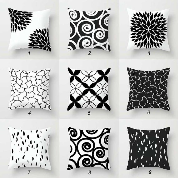 Terrific Black And White Pillow Covers Decorative Throw Pillow Covers Minimalist Pillow Couch Pillows Mix And Match Pillows Geometric Cushion Frankydiablos Diy Chair Ideas Frankydiabloscom