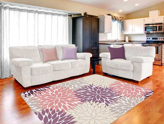 Purple Rugs For Bedroom | Pink Purple Rug Area Rug Dahlia Rug Beige Gray Rug Baby Etsy
