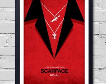 Brian De Palma Minimalist Movie Scarface