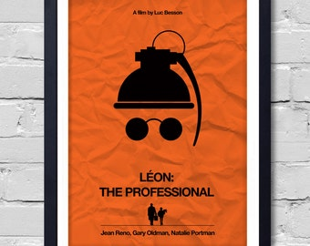 Luc Besson Minimalist Movie Léon: The Professional