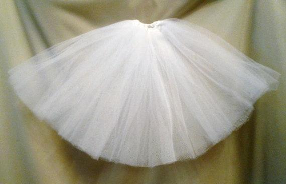 Cute white Skirt// petticoat Ellowyne WIlde MSD BJD dolls knee length
