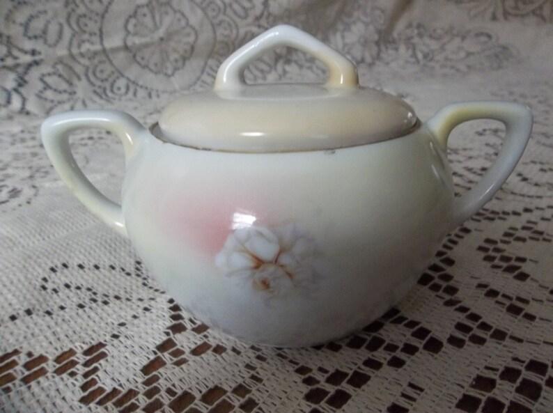 R S German covered sugar bowl