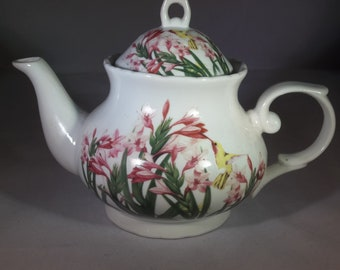 Lovely teapot with flowers
