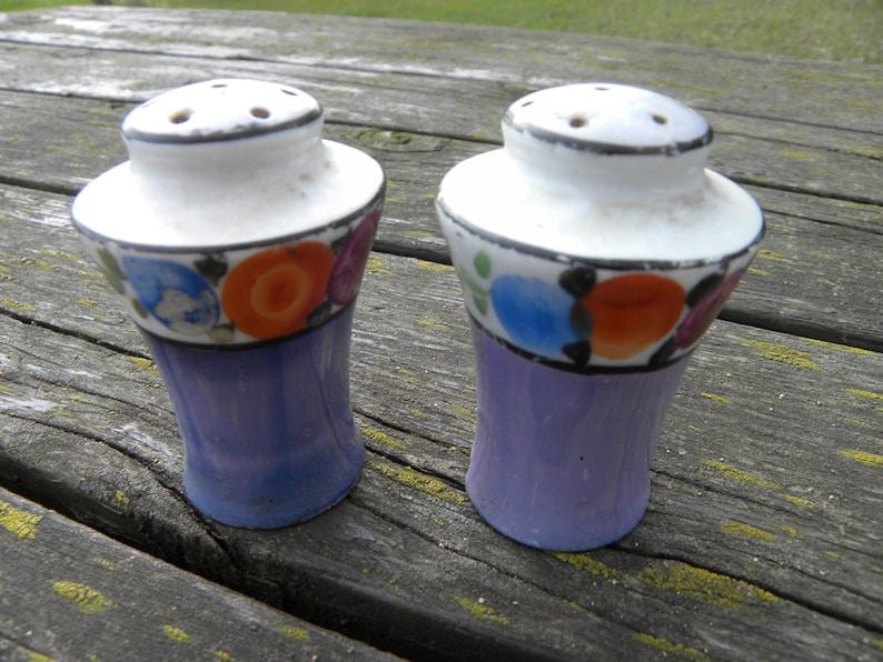 Blue Vintage Salt and Pepper Shakers Made in Japan