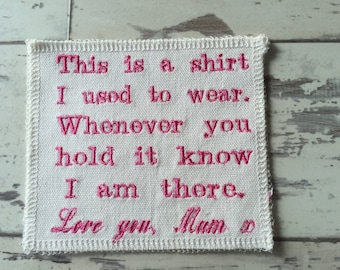 Memory Patch, Memory Pillow Patch, Quilt Patch, Memory Cushion Patch, Memory Cushion, This Is A Shirt I Used To Wear Patch, Shirt Pillow
