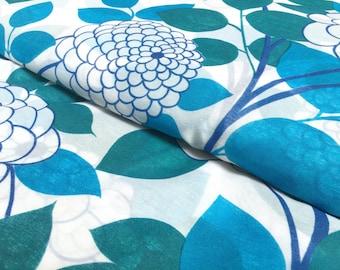 Vintage curtains fabric: 50 cm x 200 cm Blue Flower