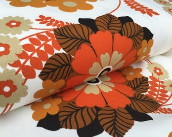 German vintage original 70s fabric 50x120 cm 70s fabric flowers