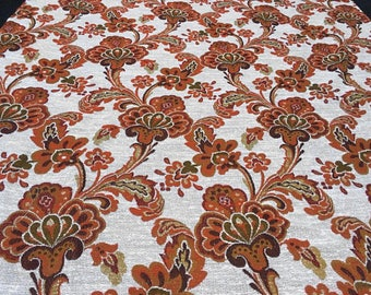 Vintage 70s fabric 50x100m ornaments Red