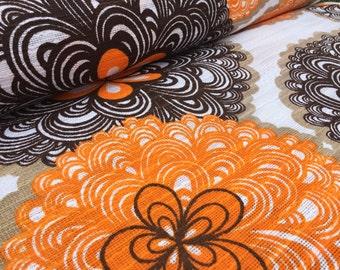 German Vintage original fabric 70s: 70s fabric 50x120
