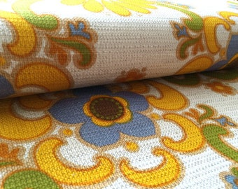 German vintage original 70s fabric 50 x 120 cm 70s Hippi flowers