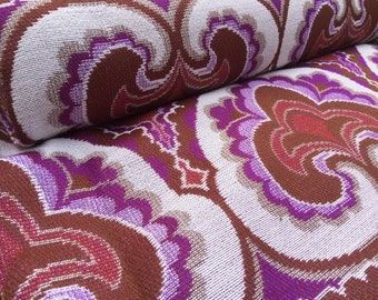 German vintage 70s fabric 50x120cm purple Panton