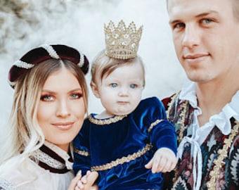 First birthday gold crown headband - baby crown, infant headband, infant crown, newborn headband, newborn crown, baby crown, baby headband