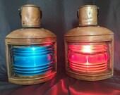 Vintage Large Copper Ship 39 s Lanterns