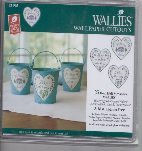 Heart Shaped Messages Wallies Wallpaper Cutouts For Crafts