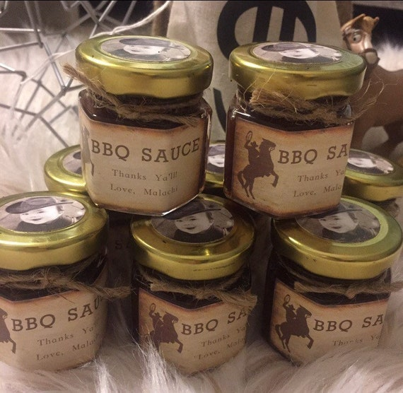 Bbq Sauce Western Party Favors Etsy