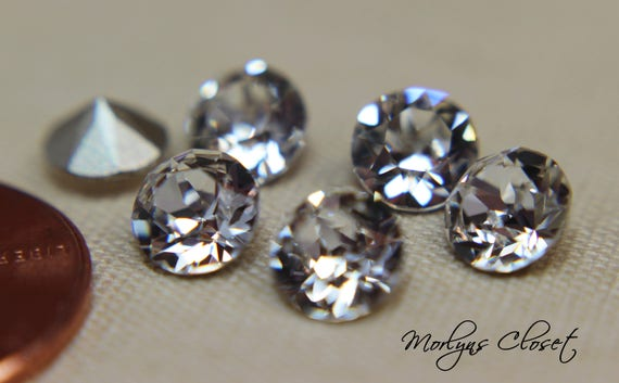 29ss 6mm Chaton Crystal Clear Swarovski 1088 Xirius Pointed Back 18 pieces