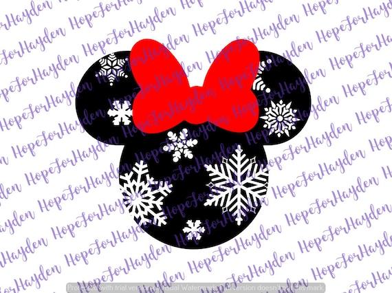 Christmas Minnie Mouse Svg.Snowflake Minnie Svg Minnie Mouse Svg Christmas Minnie Mouse Disney Svg