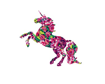 Lilly Lily Unicorn Decal | Lilly Rose Decal | Unicorn Decal | Yeti Decal | Vinyl Decal | Sticker