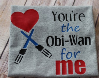 Toddler baby boys valentine shirt | You're the Obi Wan for me | Star Wars shirt | Boy Valentine's Day