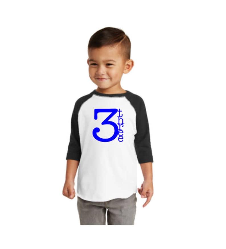 Birthday Boy Raglan Shirt Toddler 1st 2nd 3rd 4th 5th Bday tshirt 1,2,3,4,5 Tee