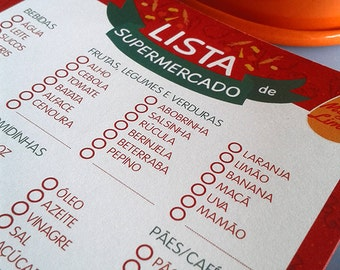 Grocery List Notepad (portuguese only)