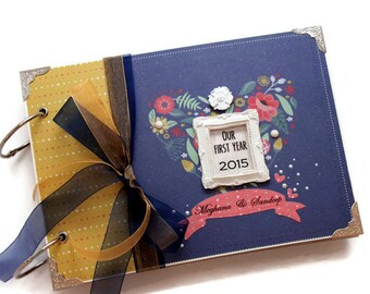 Anniversary Gift For Husband - Scrapbook Mini Album - Valentines Day Gift - Romantic Gift From Wife - 1st Anniversary Gift - Instax Album