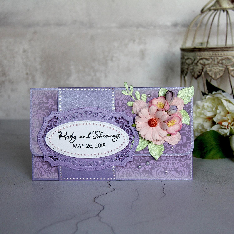 Personalized Wedding Gift Wedding Money Holder Newlyweds