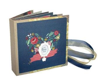 Gift For Husband - Instax Mini Album - Scrapbook Mini Album - Valentines Day Gift - Gift For Boyfriend - Anniversary Gift - Photo Album