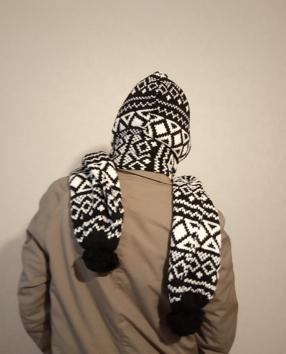 Hooded scarf Snood scarf