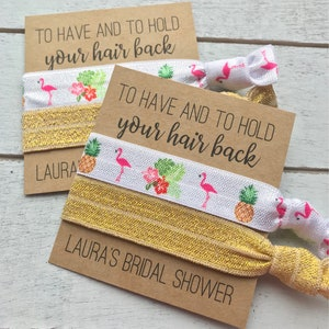 Bridal Shower Favors Personalized Hair Tie Holder for Bridal Shower
