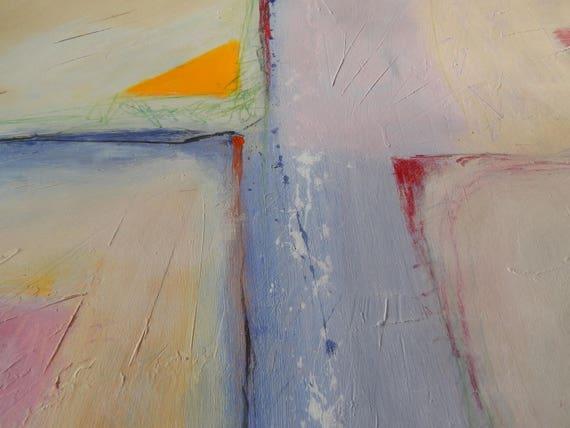 Abstrakte Malerei, Pastell Rosa, Lila, Pfirsich, Bunte Abstrakte Kunstwerk, Wohnzimmer  Wandkunst, Abstrakte Moderne Kunst 100 X 70 Cm