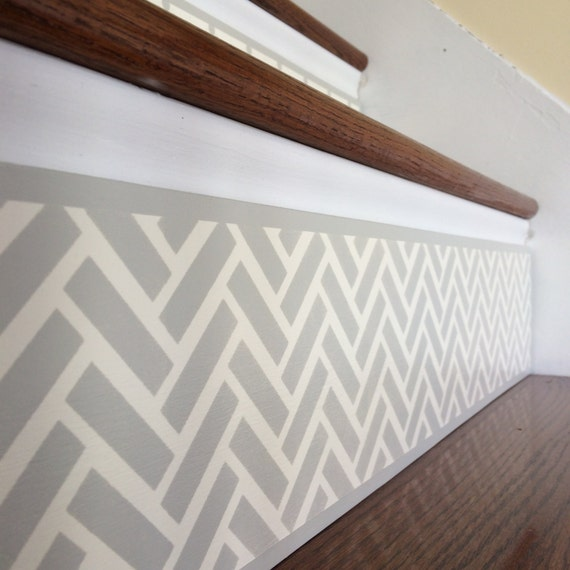 Chevron Home Decor / Alternative To Vinyl Decals Stair