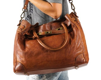 5c2970f0c2 Brown leather tote