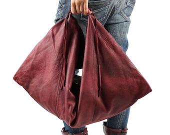 6dcdaffedaf1 Leather slouchy bag