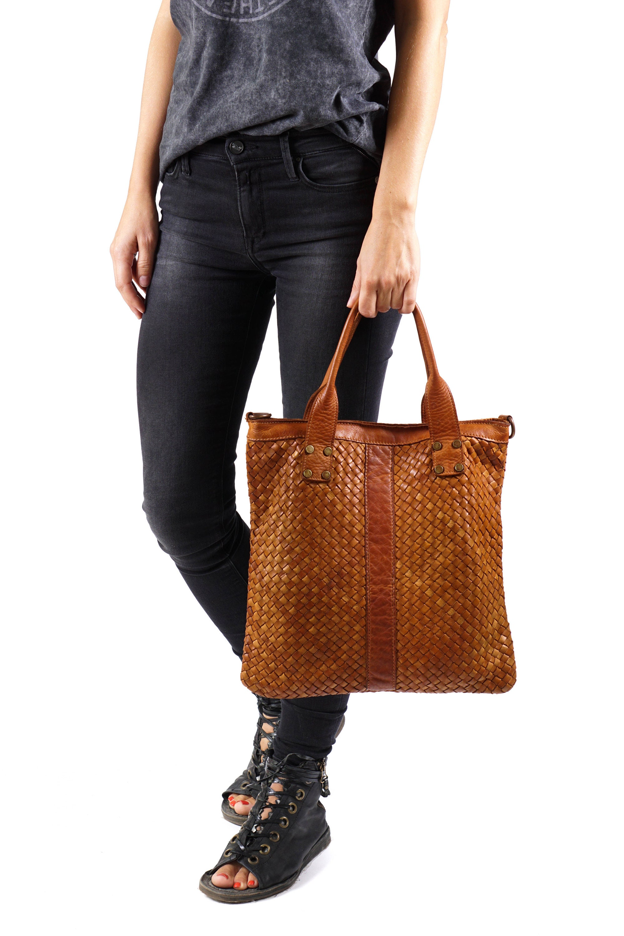 Top Handle Bags Woman Leather Tote Italian Leather Bag  b4f53388ccc01