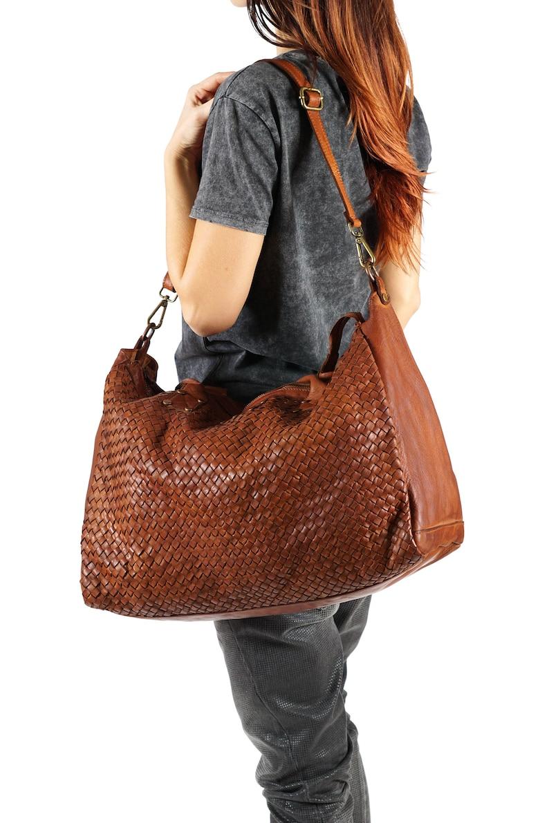 5f5ed035c2 Large Tote Bag Brown Bag Hobo Tote Zipper Tote Bag Brown