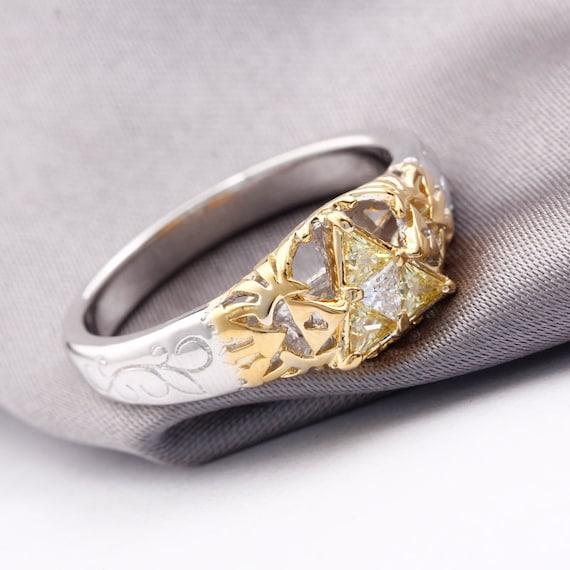 Nerdy Wedding Rings.Triforce Zora Spiritual Stone Engagement Promise Wedding Ring Etsy