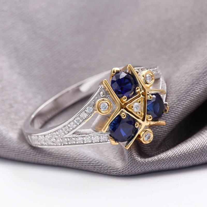 Nerdy Wedding Rings.Zora Sapphire Spiritual Stone Engagement Promise Wedding Ring Etsy