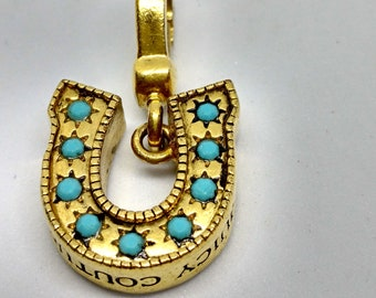 Adorable Juicy Couture Gold Tone Horseshoe Charm