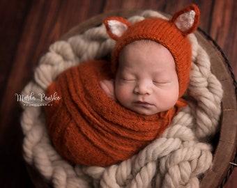 1af384ac09c Newborn Baby Fox Bonnet
