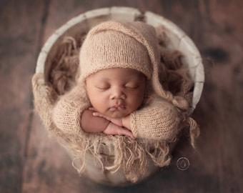 Star Sleepy Cap Newborn Hat Star Newborn Props Newborn Sleepy Cap Newborn Knot Hat RTS Newborn Photo Prop Metallic Star Baby Hat