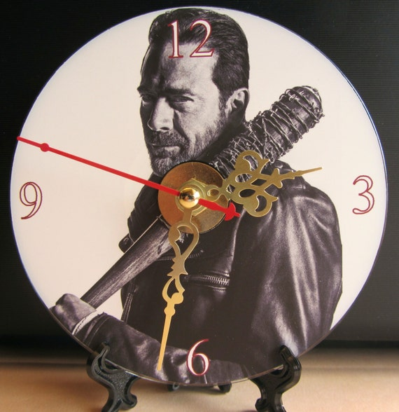 Brand New The Walking Dead Rick Grimes CD Clock Horror Zombies Nice!!