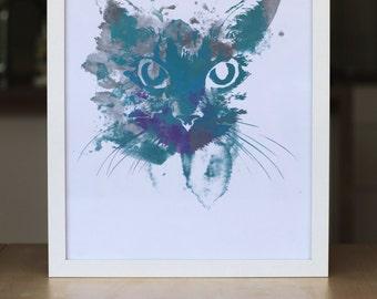 INSTANT DOWNLOAD print Cool Cat A3
