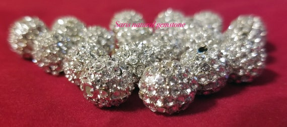 10pcs//lot 45mm pave disco mixed long bending tube crystal shamballa beads DIY