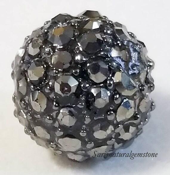 5 X Round Crystal Silver Tone Alloy Grade A Rhinestone