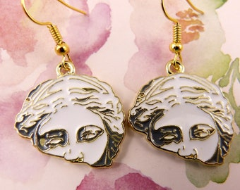 Venus de Milo Earrings, Hypoallergenic, Tribute to World's Most Famous Greek Sculpture, Artsy, Unique, Funky, Classic Art, Gift for Her