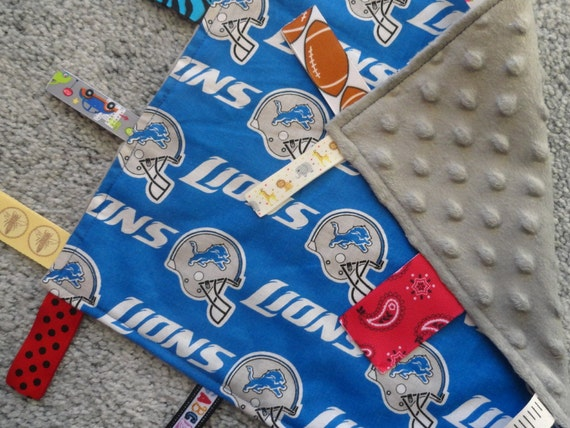 Detroit Lions Sensory Lovey Baby Shower Gift I Spy Lovey  a1822ad12