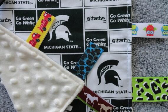 Michigan State University Sensory Lovey Baby Shower Gift I  8c308af5c