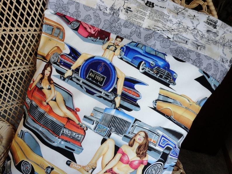 Heiße Autosheißer Chicks Kissenbezugsham Route 66 Us Etsy